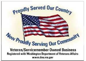 VETERAN OWNED BUSINESS DECAL